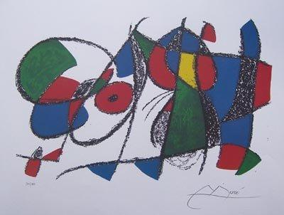 17: Joan Miro VOLUME II, LITHO VIII Ltd Ed. Plate Signe