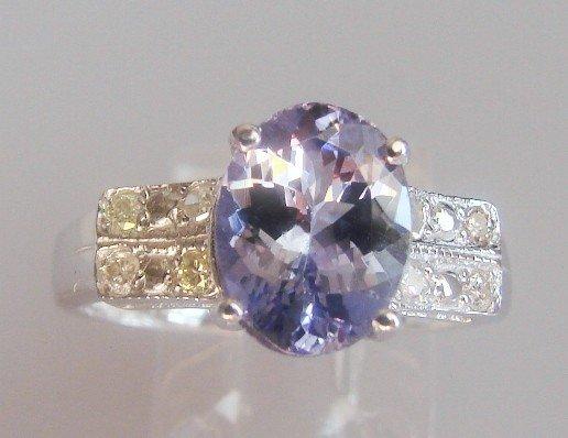 25: Tanzanite and Diamond Ring - Appraised at $12,470
