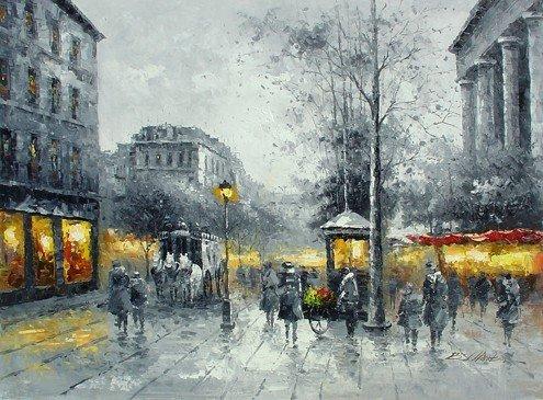 227: Huge Oil Painting on Canvas Paris dreams