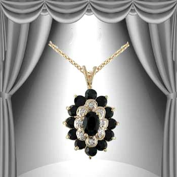 5: Genuine 1 CT Sapphire Diamond 14K Pendant