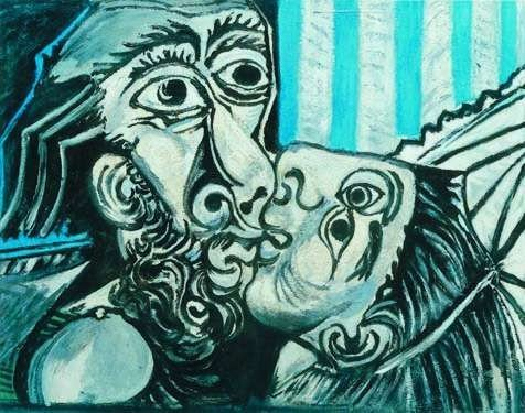 2: THE KISS Picasso Estate Signed Giclée