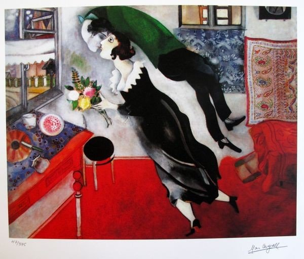 13: Marc Chagall BIRTHDAY Limited Ed. Small Giclée
