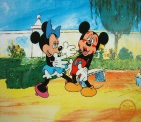 5: DISNEY MICKEYS SURPRISE PARTY Original Art Sericel