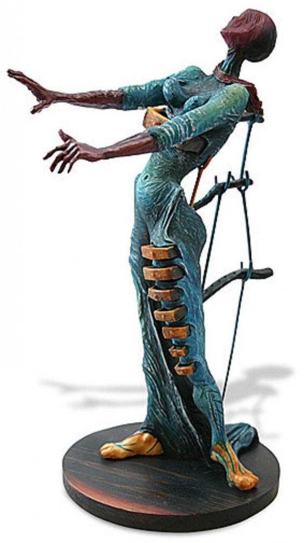 18: Dali WOMAN WITH DRAWERS Sculpture