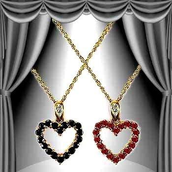 22: Genuine 2 CT Ruby Sapphire Diamond Pendant
