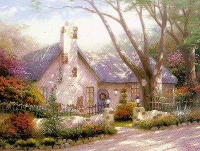 15: Thomas Kinkade Morning Glory Cottage