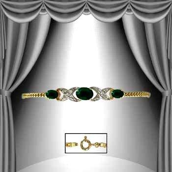 10:4.7 CT Emerald Diamond Bracelet