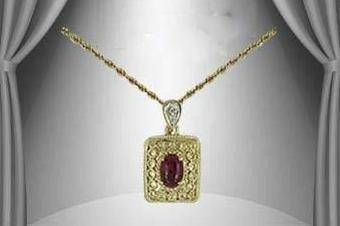 22: Genuine 1 CT Garnet Diamond Pendant