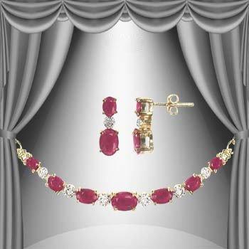 1: 14 CT Ruby Diamond Elegance Set
