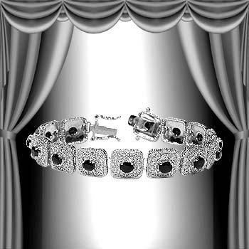 8: Genuine 7 CT Sapphire 18K Bracelet