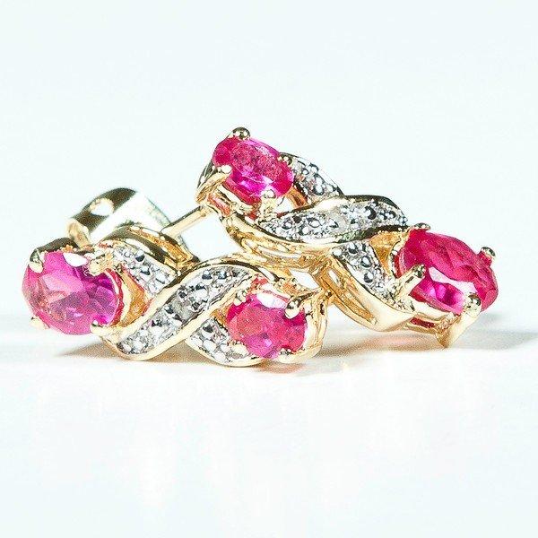 17: 2.2 CT Ruby Diamond Earrings