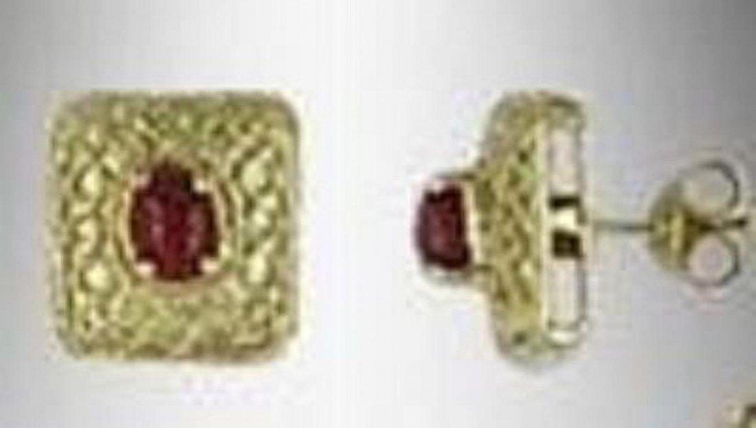 23: Genuine 1 CT Garnet Earrings