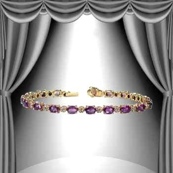 6: 10 CT Amethyst Diamond Bracelet