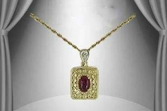 22: Genuine 1 CT Garnet Diamond Pendant