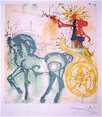 366 Salvador Dali Lithograph Le Cheval de Triomphe
