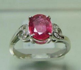 Natural Ruby And Diamond Ring Appraised $3,400