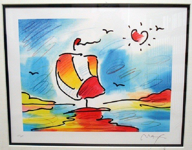 "23: ""Sailboat with Heart"" by Peter Max"