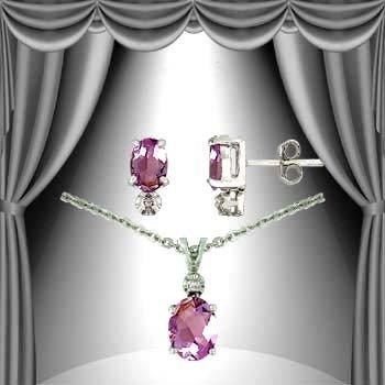 7: 3.2 CT Amethyst Diamond Solitaire Suite