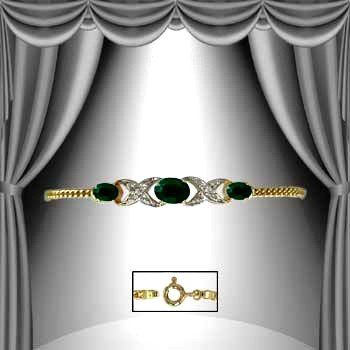 10: 4.7 CT Emerald Diamond Bracelet