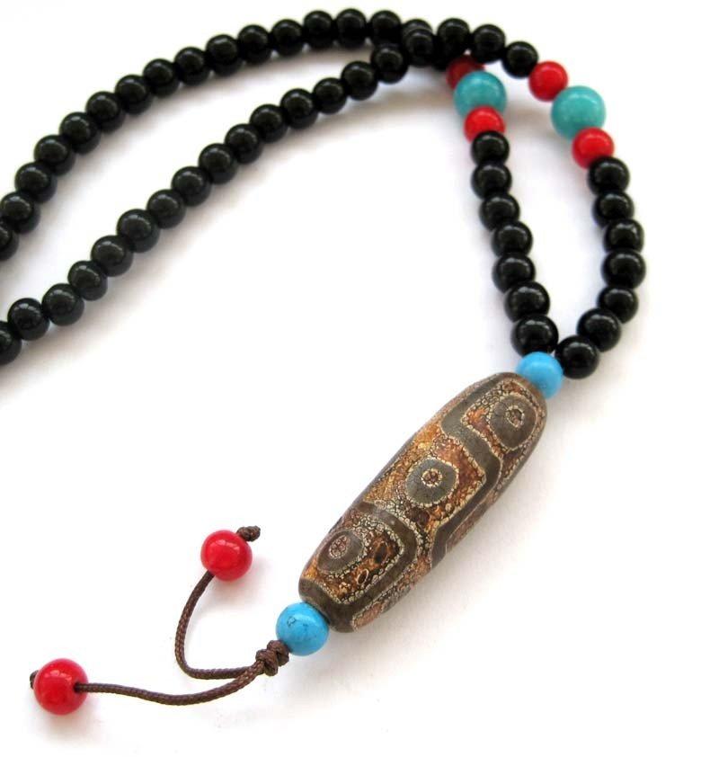 1: Tibetan Mala Sandalwood Prayer Necklace