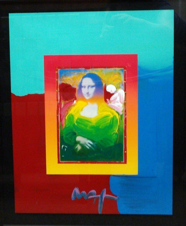 """8: """"Mona Lisa on Blends"""" by Peter Max"""