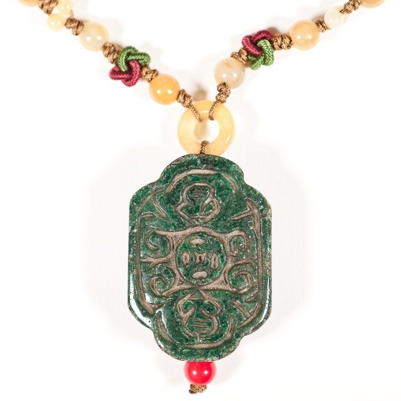 18: 250 CT Hand Carved Natural Jade Good Luck Pendant