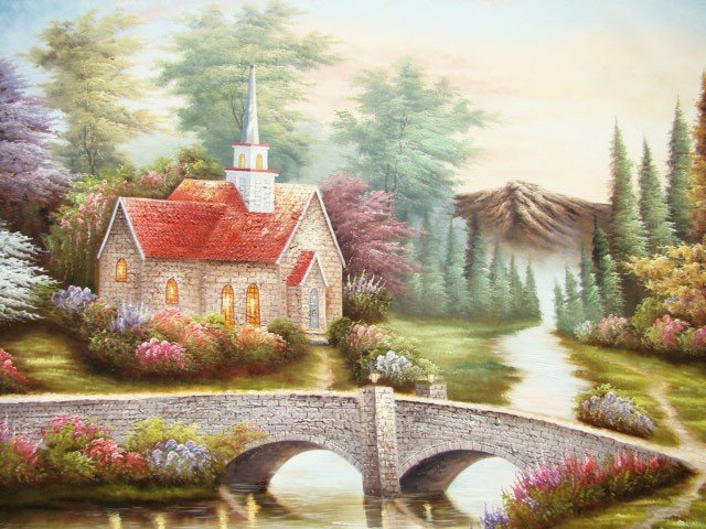 "22: ""Coming Home"" Large Size Handmade Oil Painting"