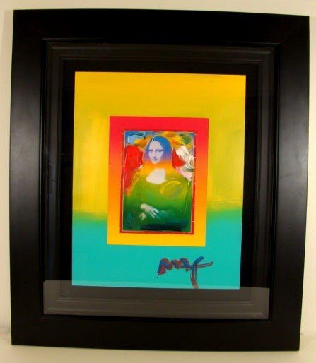 "1: ""Mona Lisa"" by Peter Max  Framed and Ready to Hang!"