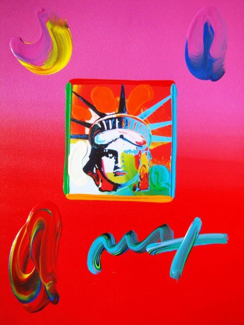 "10: ""Liberty Head III"" by Peter Max Hand Signed"