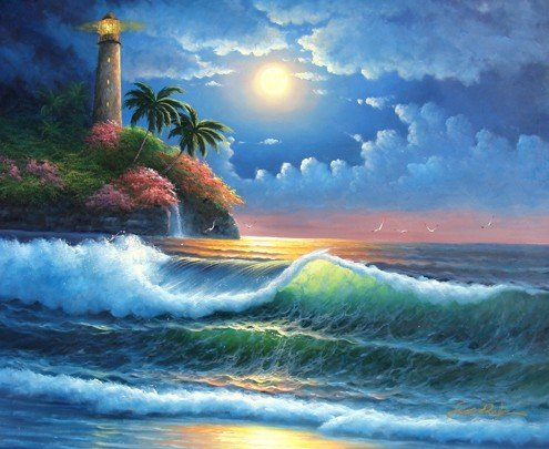 "12: Fine Art Movement Masterpiece ""Lighthouse"""