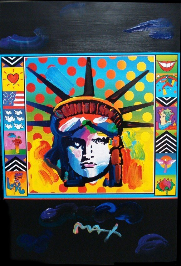 "24: Very Rare! ""Verizon"" (Black) by Peter Max"