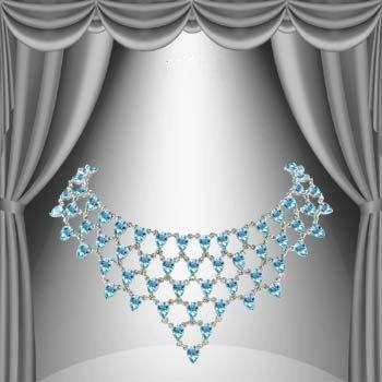 4: Genuine 59 CT Blue Topaz Elegance Necklace