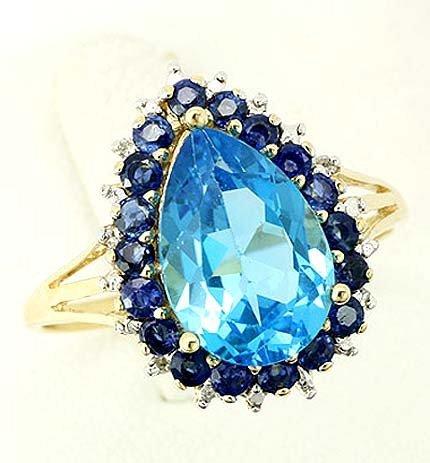 24:Genuine Blue Topaz, Blue Sapphire & Diamonds $3,800