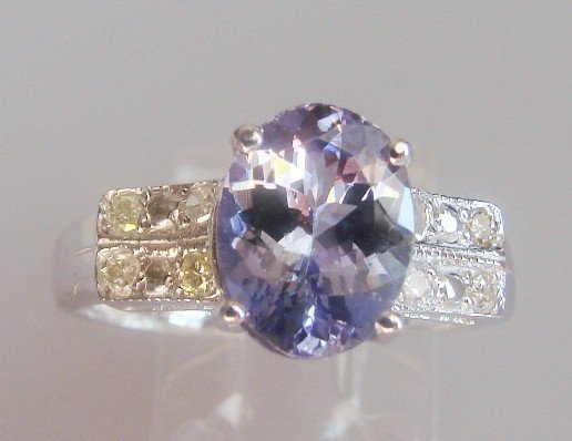 25: Tanzanite and Diamond Ring - Appraised at $12,470