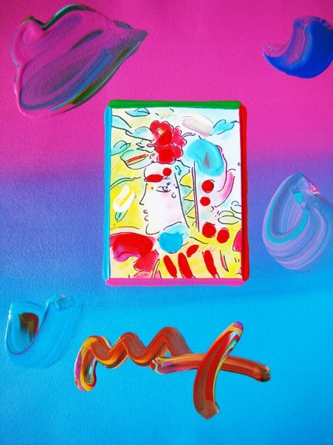 "29: Peter Max ""Profile 2005"" Hand Signed Original Mixed"