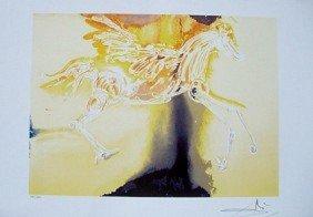 "Dali Ltd Ed. Lithograph ""Pegasus"""