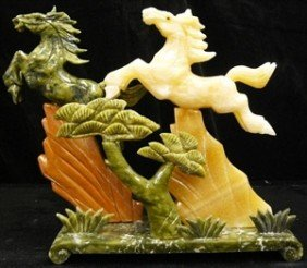 JADE 2 HORSES MOUNTAIN