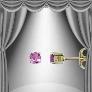 182: .25 CT Amethyst Post Earrings