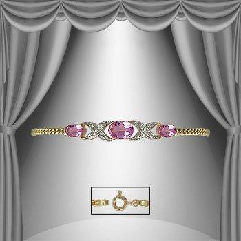 183: 4.7 CT Amethyst Diamond Bracelet