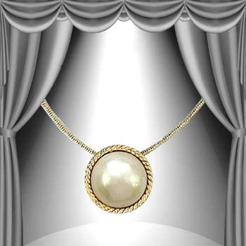 193: Genuine 12.5mm Pearl Necklace