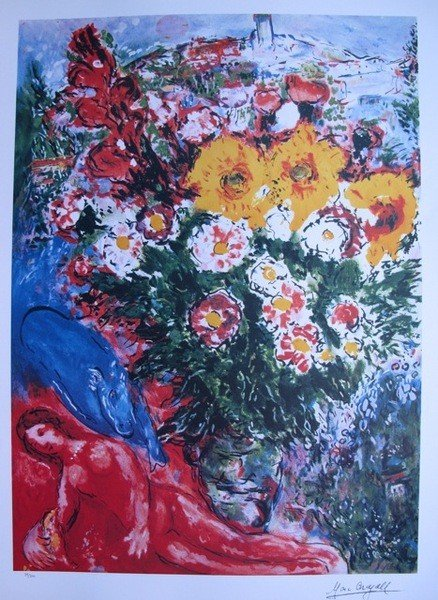 202: Marc Chagall LE SOUCIS Limited Ed. Lithograph