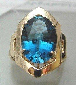 208: 6.83 CT London Blue Topaz Ring Appraised $3,950