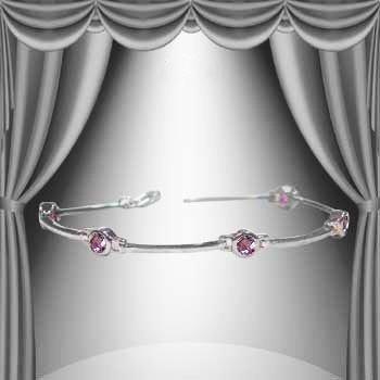 4: Genuine 6 CT Amethyst Forever Love Bracelet