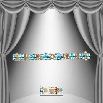 14: Genuine 14 CT Blue Topaz Bracelet