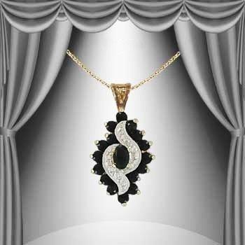 18: 2.7 CTW Sapphire Diamond Elegance Necklace