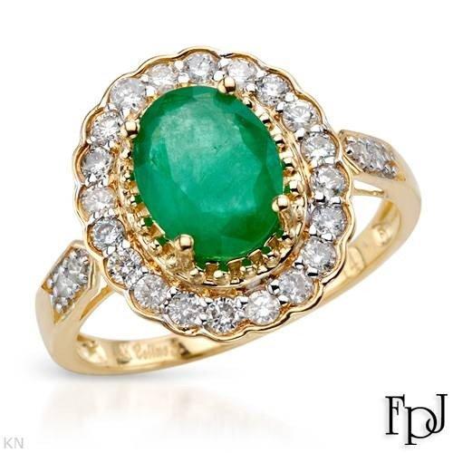 19: 2.2 CTW Emerald & Diamond 14K Gold Ring $8,455