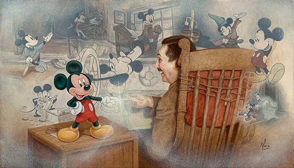 38: Real Disney Art A Touch Of Magic By Mike Kupka