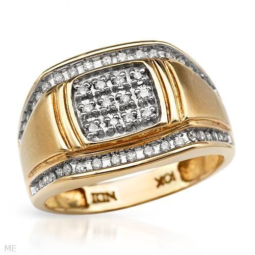 17: 0.5 CTW Color J-K Diamonds Gold Men's Ring $5,855