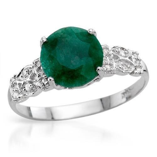 26: Amazing 1.65 CTW Emerald & Diamond Ring $4750