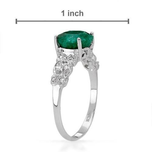 26: Amazing 1.65 CTW Emerald & Diamond Ring $4750 - 2